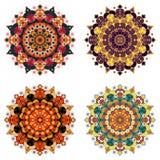 Set of round ethnic design elements Stock Photography