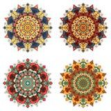 Set of round ethnic design elements Royalty Free Stock Image