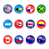 Set of Round Flags Stock Photography