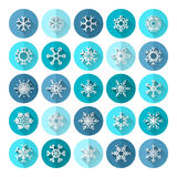 Set of round flat icons. Stock Images
