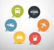 Set of round flat transport pointers Stock Photography
