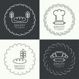 Set of round frames and banners Stock Photo