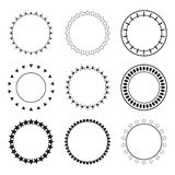 Set of round frames. Decoration design elements. Ethnic borders Royalty Free Stock Images