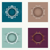 Set of round frames Royalty Free Stock Photography