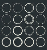 Set of  round frames Stock Photography
