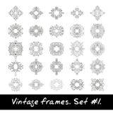 Set of round frames. Nine decorative elements for Royalty Free Stock Photo