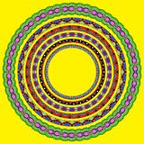 Set of round geometrical frames, circle border Stock Image