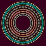 Set of round geometrical frames, circle border Royalty Free Stock Photos