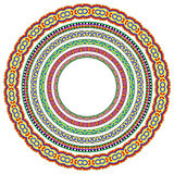 Set of round geometrical frames, circle border Royalty Free Stock Images