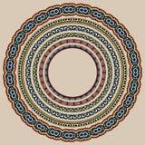 Set of round geometrical frames, circle border Royalty Free Stock Image