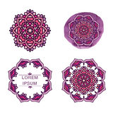 Set round geometryczny mandala Fotografia Royalty Free