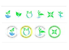 Set of round icon symbol vector design vector illustration