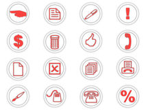 Set of round icons Stock Images