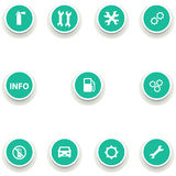 Set of round icons for car service Royalty Free Stock Images