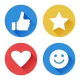 Set of round icons for evaluation. Rating symbols. Vector illustration royalty free illustration
