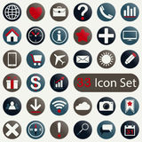 Set of round icons for mobile app and web Royalty Free Stock Photo