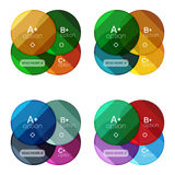 Set of round infographic banners with options Royalty Free Stock Photography