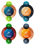 Set of round infographic banners with options Stock Photos