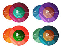 Set of round infographic banners with options Stock Photography