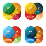 Set of round infographic banners with options Stock Image