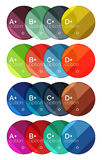 Set of round infographic banners with options Stock Images