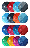 Set of round infographic banners with options Royalty Free Stock Photo