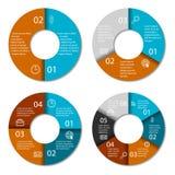 Set of round infographic diagram.  Royalty Free Stock Photo