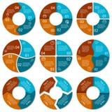 Set of round infographic diagram Stock Photos