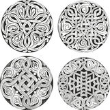 Set of round knot decorative patterns Royalty Free Stock Photo