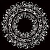 Set round kwiecista rama ilustracji
