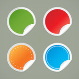 Set of round labels. Royalty Free Stock Images