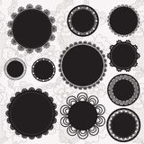 Set of round lacy doilies. Royalty Free Stock Images