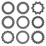 Set round majchery również zwrócić corel ilustracji wektora ilustracja wektor