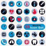 Set of round medical icons Royalty Free Stock Images