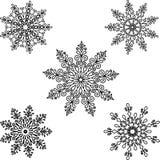 Set Round motif pattern small. Black and white Stock Photos