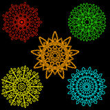 Set Round motif pattern small. Color Stock Photography
