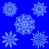 Set Round motif pattern small. Color Stock Image