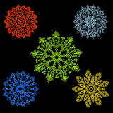 Set Round motif pattern small. Color Royalty Free Stock Images