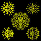 Set Round motif pattern small. Color Royalty Free Stock Image