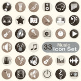 Set of round music icons Royalty Free Stock Images