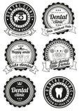 Set round odznaki dla stomatologicznej kliniki Obrazy Stock