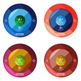Set of round option diagram template for your data or options Royalty Free Stock Photos