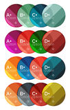 Set of round option diagram template for your data or options Royalty Free Stock Images