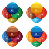 Set of round option diagram template for your data or options Royalty Free Stock Photo