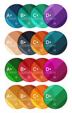 Set of round option diagram template for your data or options Stock Photography