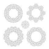 Set of round ornament frames Stock Photography
