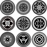 Set of round ornament pattern Stock Image