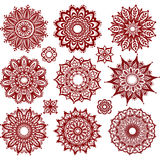 Set of Round Ornament Patterns Stock Photo
