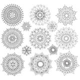 Set of Round Ornament Patterns Stock Photography