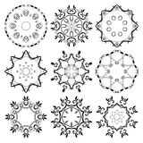 Set of round ornaments. Abstract illustration Stock Images